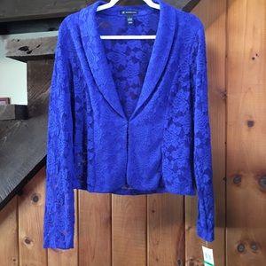 NWT - INC Goddess Blue Lace Blazer